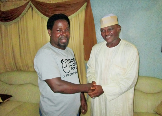 TB Joshua and Al-Mustapha after Release from Prison