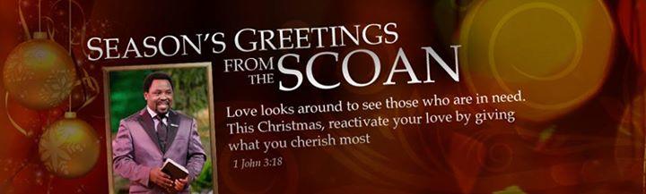 CHRISTMAS GREETINGS FROM T.B. JOSHUA