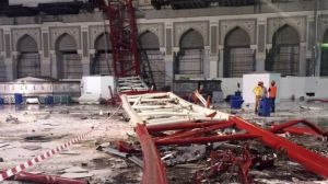 Fallen Crane at Mecca