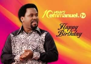 Prophet T.B Joshua Celebrate Emmanuel.TV @10