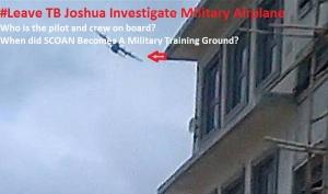 @bukolasaraki @AkinwunmiAmbode @NGRPresident #ProbeTBJSCOANAttack #MissionOfMilitaryAirplane #SCOANGuestHouse