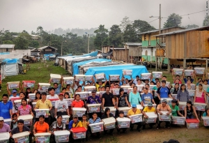 Beneficiaries Ecuador Relief Materials