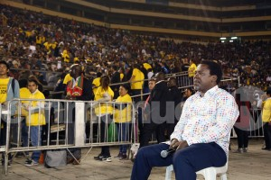 Tb Joshua sitting in protest peru