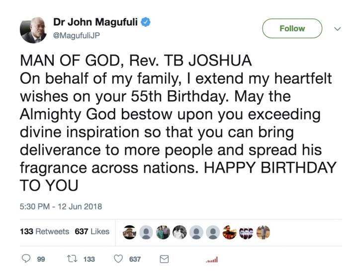 Birthday Celebration | Watched TB Joshua Blog