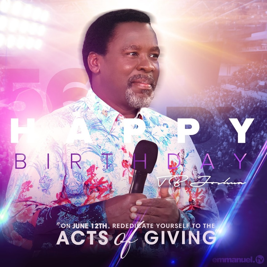 Tb Joshua 56 birthday