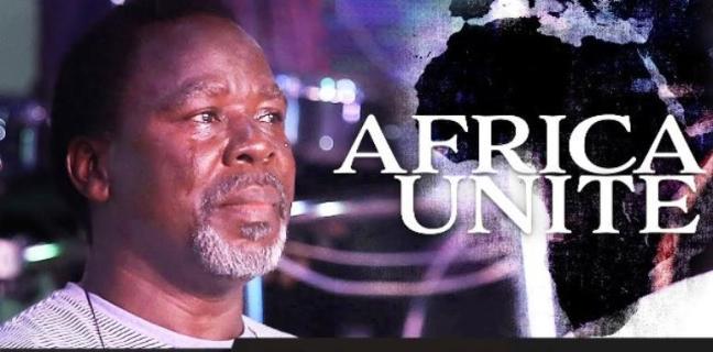 tb joshua, crying, africa unite