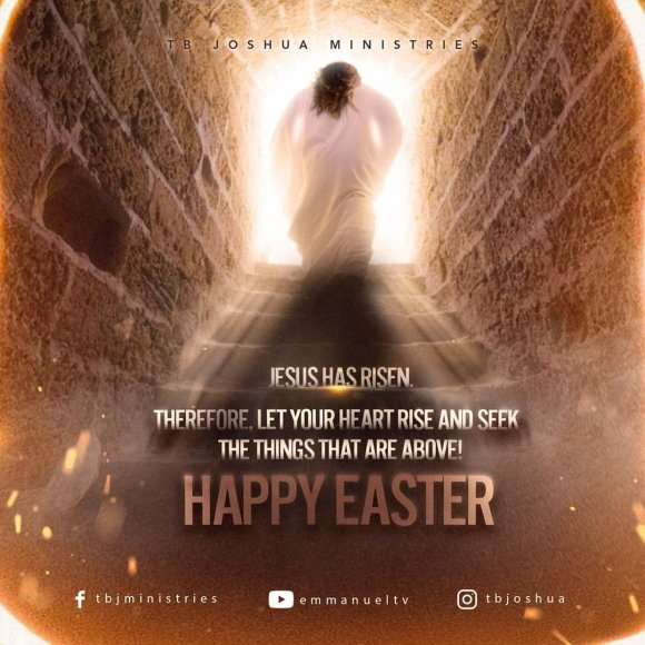 Tb Joshua Ministries,The SCOAN,  Happy Easter